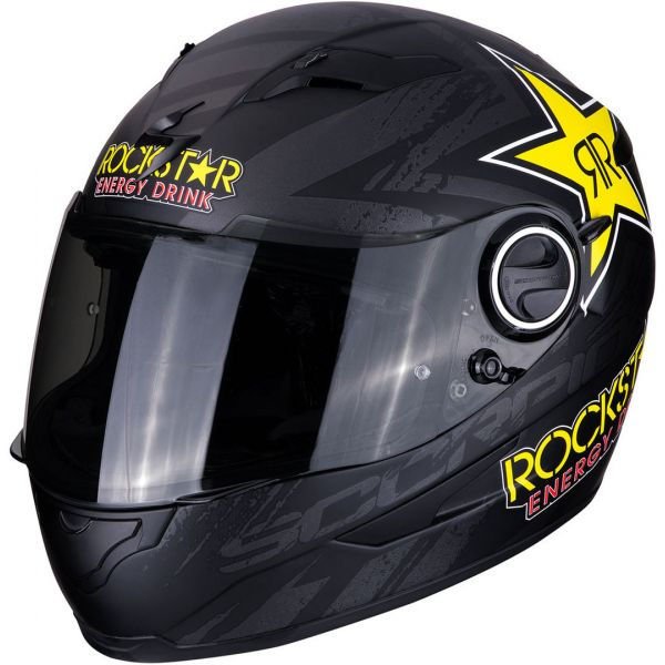 Casti Moto Integrale Scorpion Exo Casca Moto Full-Face Exo 490 Rockstar Matt Black/Yellow/Red