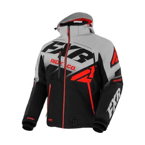 Geci Snowmobil FXR Geaca Snow Insulated Boost FX Black/Lt Grey/Lava 2021