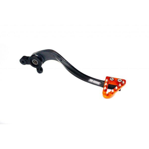 Pedale Frana MX/Enduro Fm-Parts  Pedala Frana Spate cu Capat Marit KTM/Husqvarna 2017-2021 Ajustabila Orange/Black