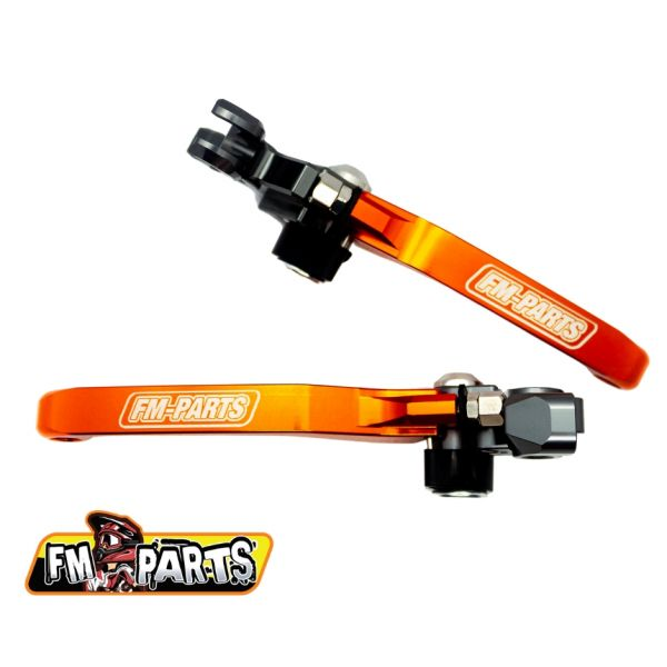 Manete si Comenzi MX Fm-Parts Set Manete Foldabile KTM 2008-2014 Orange