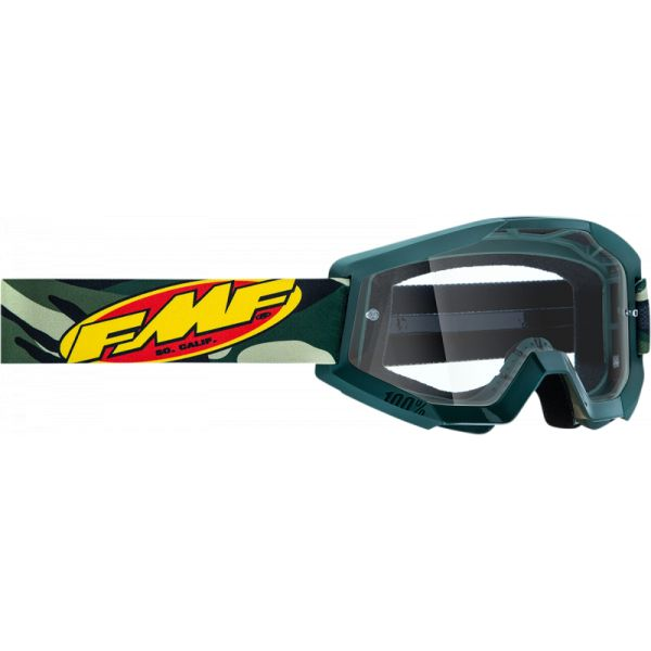 Ochelari MX-Enduro FMF Vision Ochelari Moto Assault Camo Lentila Clara F-50400-101-08