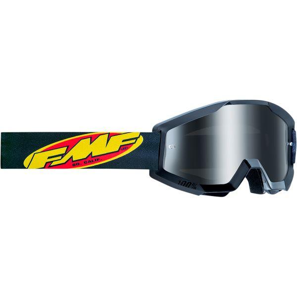 Ochelari MX-Enduro Copii FMF Vision Ochelari Moto Copii Core Black Lentila Oglinda Argintie F-50500-252-01
