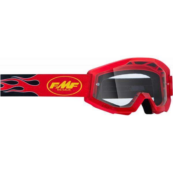 Ochelari MX-Enduro Copii FMF Vision Ochelari Moto Copii Flame Red Lentila Clara F-50500-101-03