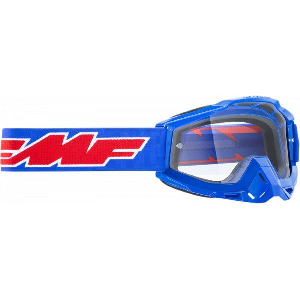 Ochelari MX-Enduro Copii FMF Vision Ochelari Moto Copii Rocket Blue Lentila Clara F-50300-101-02