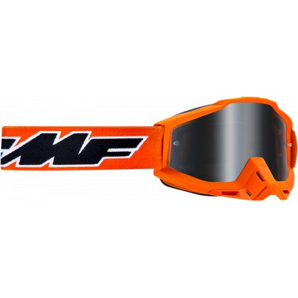 Ochelari MX-Enduro Copii FMF Vision Ochelari Moto Copii Rocket Orange Lentila Oglinda Argintie F-50300-252-05
