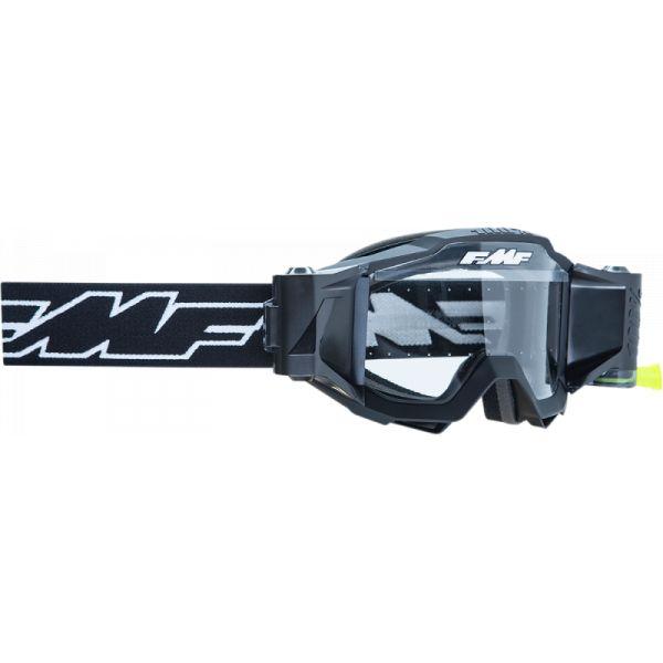 Ochelari MX-Enduro FMF Vision Ochelari Moto Film System Rocket Black Lentila Clara F-50220-901-01