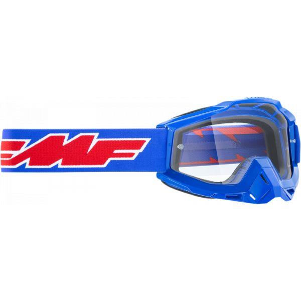 Ochelari MX-Enduro FMF Vision Ochelari Moto OTG Rocket Blue Lentila Clara F-50204-101-02