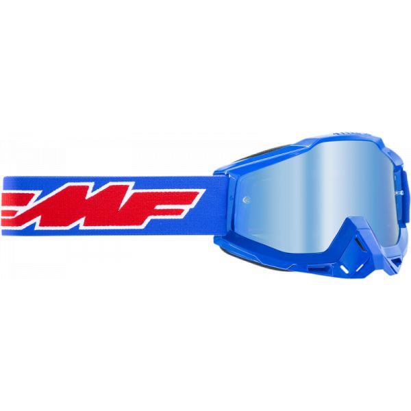 Ochelari MX-Enduro FMF Vision Ochelari Moto Rocket Blue Lentila Oglinda Albastra F-50200-250-02