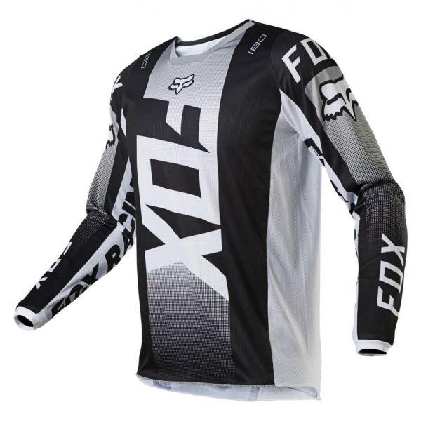 Tricouri MX-Enduro Fox Tricou Moto MX 180 Oktiv Black/White 2021