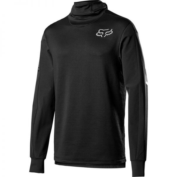 Lenjerie Baselayer MX Fox Bluza Corp Defend Thermo Hooded Black 2020