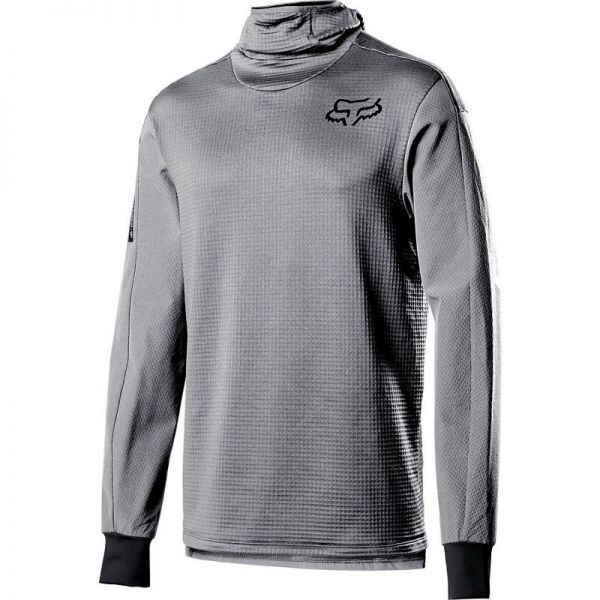 Lenjerie Baselayer MX Fox Bluza Corp Defend Thermo Hooded Stealth Gray 2020