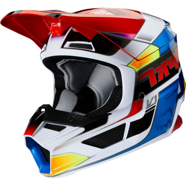 Casti MX-Enduro Copii Fox Casca MX Copii Albastru/Rosu V1 Yorr MVRS ECE 2020