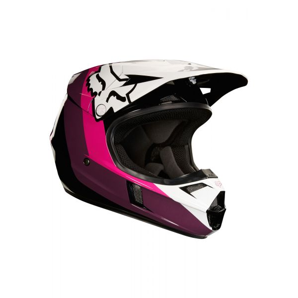Casti MX-Enduro Copii Fox Casca MX Copii V1 Halyn Negru/Roz 2020