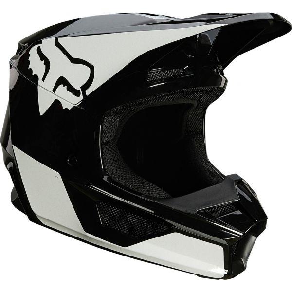 Casti MX-Enduro Fox Casca MX V1 Revn Negru Lucios/Alb 2020