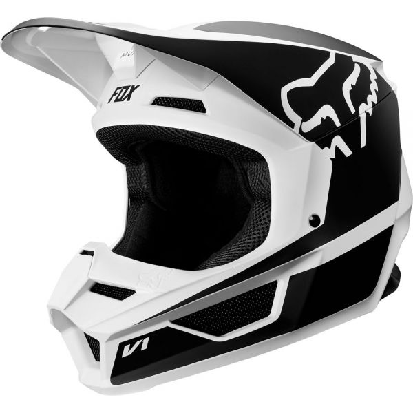 Casti MX-Enduro Copii Fox Casca V1 PRZM Black/White Copii