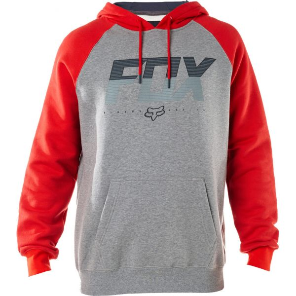 Geci Casual Fox Hanorac Katch Pullover Fleece Grey/Red