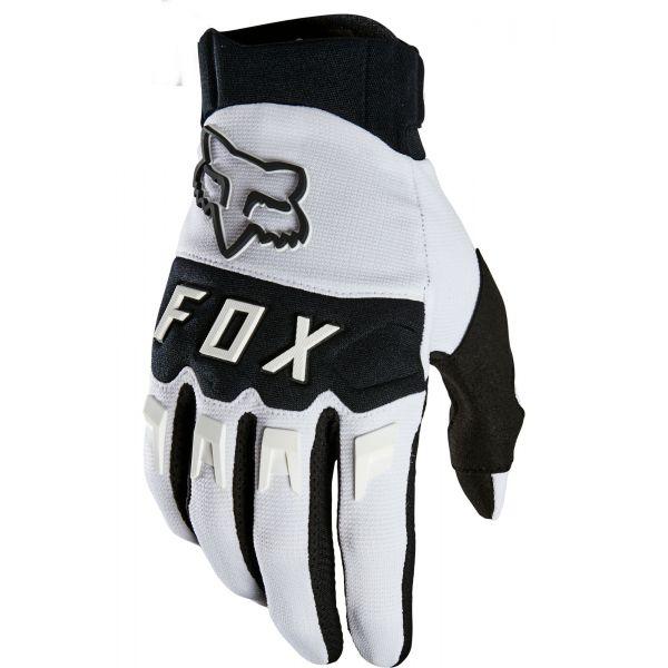 Manusi MX-Enduro Fox Manusi Moto Dirtpaw White MX21