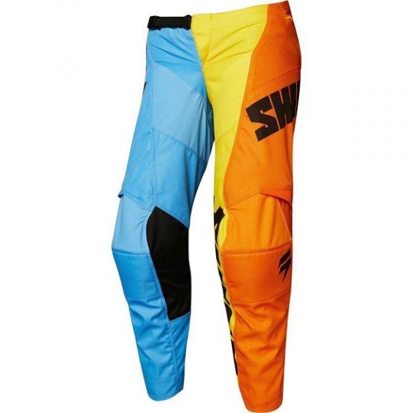 Pantaloni MX-Enduro Copii Fox Pantaloni MX Copii Whit3 Tarmac Portocaliu/Albastru 2020