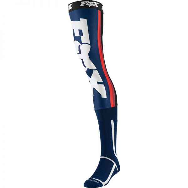 Sosete MX-Enduro Fox Sosete Knee Brace Linc Navy/Red 2020