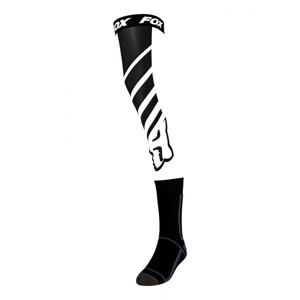 Sosete MX-Enduro Fox Sosete MX Knee Brace Mach One Negru/Alb 2020