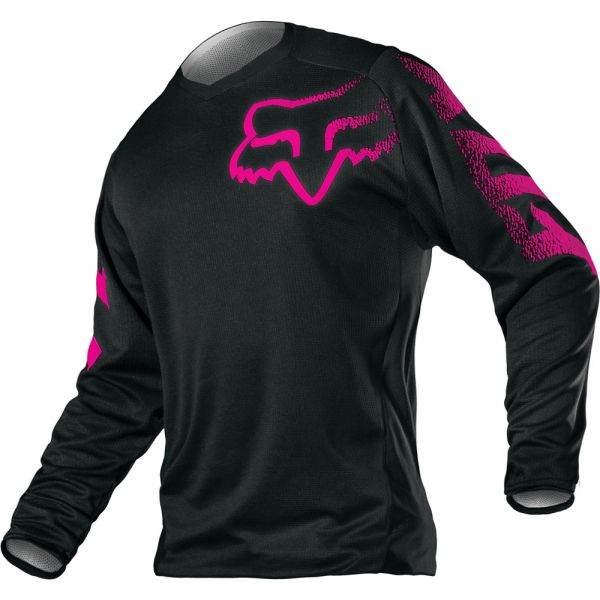 Tricouri MX-Enduro Fox Tricou Blackout Black/Pink 2019 Dama