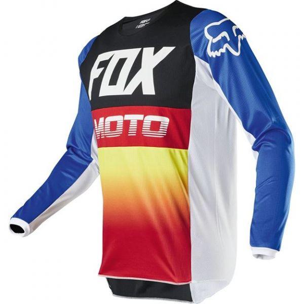 Tricouri MX-Enduro Copii Fox Tricou MX Copii 180 Fyce Rosu/Albastru 2020