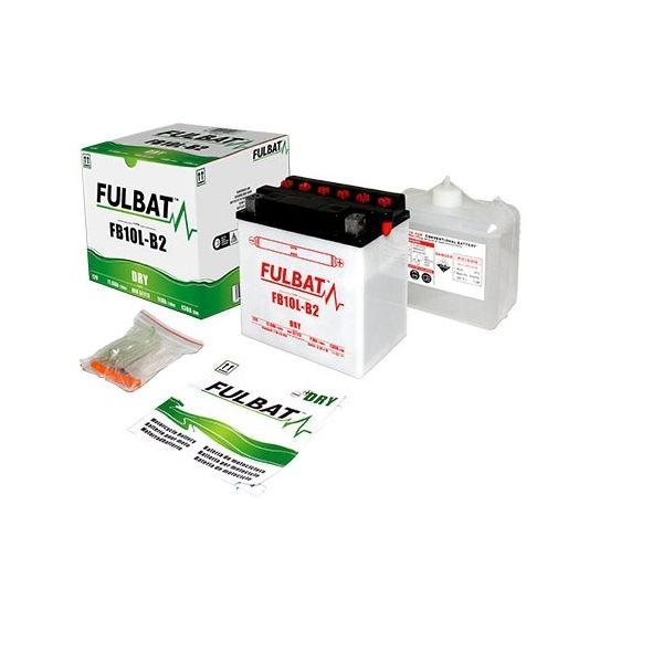 Acumulatori Cu Intretinere Fulbat Baterie Conventionala incl. Electrolit FB10L-BP (YB10L-BP)