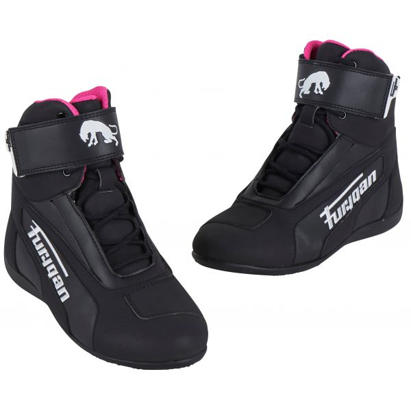 Cizme Moto - Dama Furygan Cizme Dama Zephyr D3O WP Black/White/Pink 2020