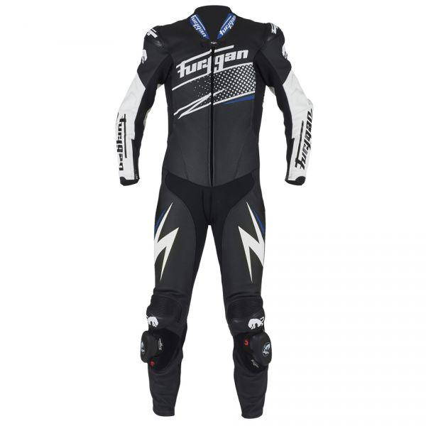 Combinezoane Moto Piele Furygan Combinezon Piele Full Ride Black/White/Blue 2020