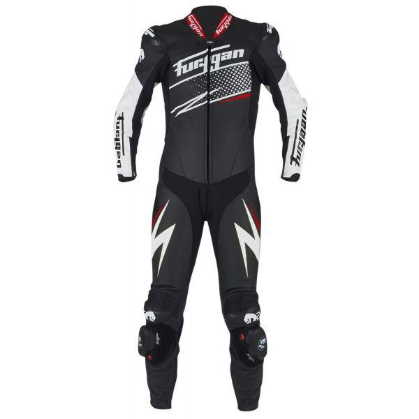 Combinezoane Moto Piele Furygan Combinezon Piele Full Ride Black/White/Red 2020