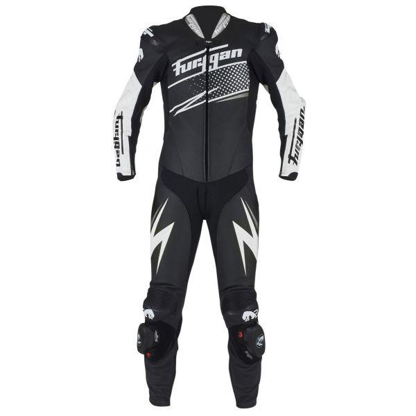 Combinezoane Moto Piele Furygan Combinezon Piele Full Ride Black/White/Silver 2020