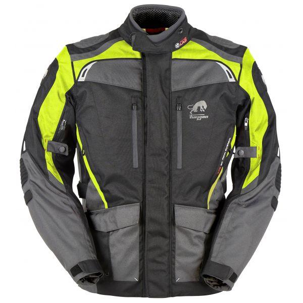 Geci Moto Textil Furygan Geaca Moto Textila Apalaches Black/Yellow Fluo 2020