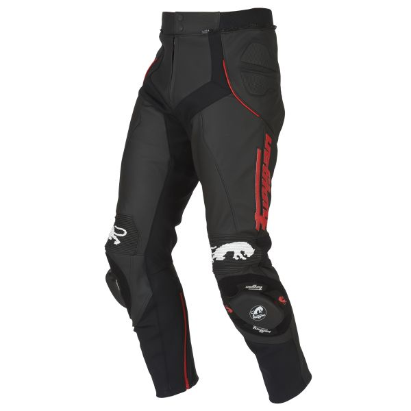 Pantaloni Moto Piele Furygan Pantaloni Piele Raptor Black/Red 2020