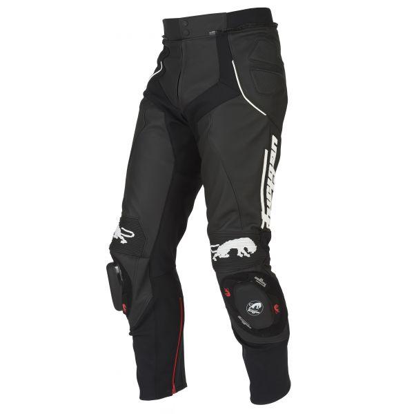 Pantaloni Moto Piele Furygan Pantaloni Piele Raptor Black/White 2020