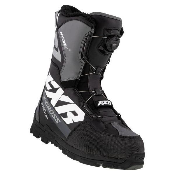 Bocanci Snowmobil FXR Bocanci Snow X-Cross Pro Flex BOA Black/White 2021