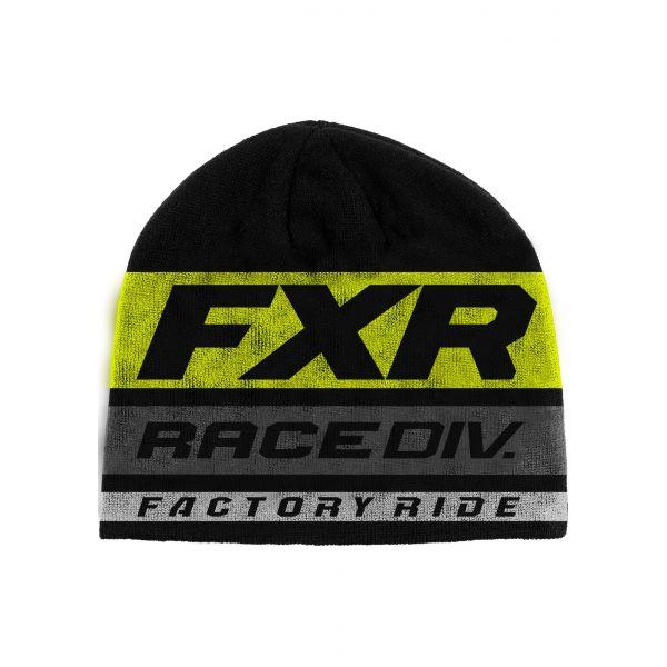 Caciuli FXR Caciula Race Division Beanie 2020 Black/Hi Vis OS