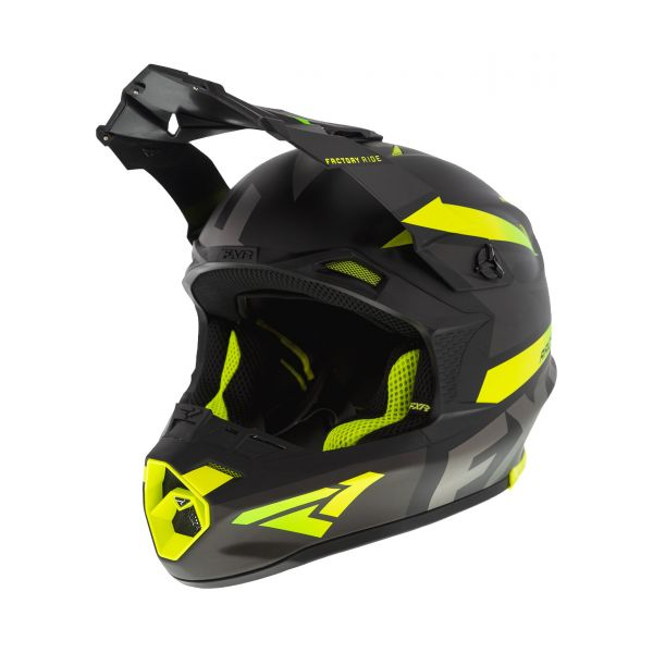 FXR Casca MX Blade Force Black/Char/Hi Vis 2020