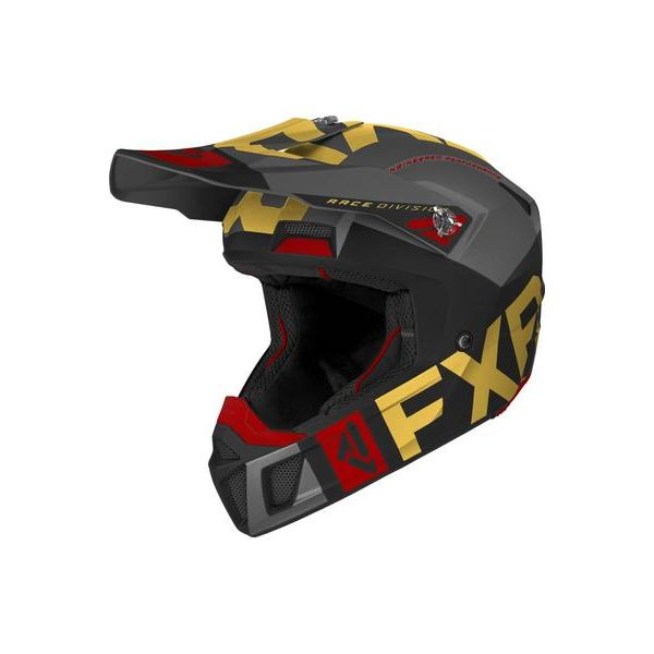 Casti Snowmobil FXR Casca Snow Clutch Evo Black/Gold/Rust 2021