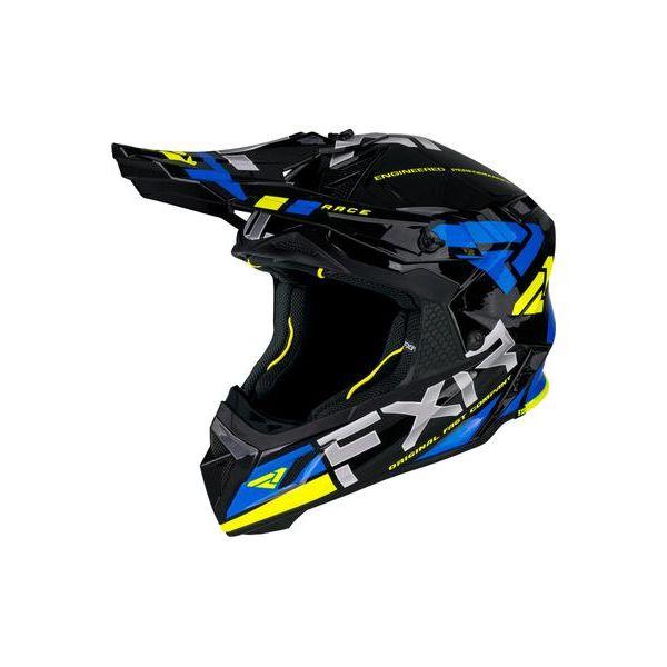 Casti Snowmobil FXR Casca Snow Helium Race DivBlue/Hi Vis 2021
