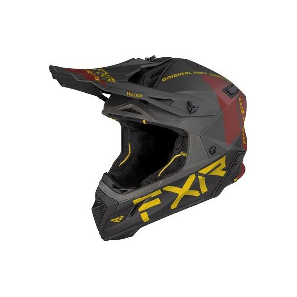Casti Snowmobil FXR Casca Snow Helium Ride Co Char/Gold/Rust 2021