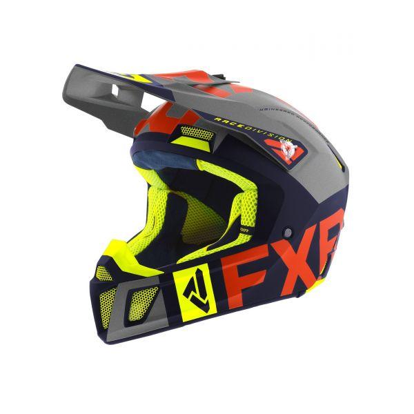 FXR Casca Snow Clutch Evo Helmet Navy/Lt Grey/Nuke/Hi Vis 2020