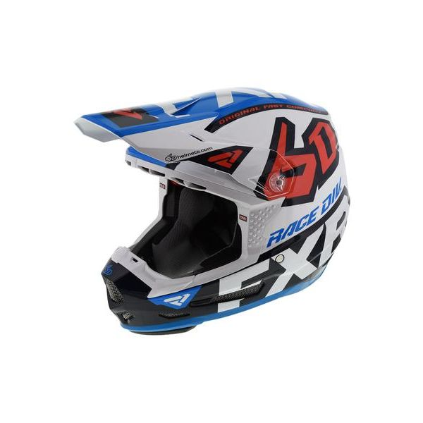 Casti Snowmobil FXR Casca Snow Copii 6D ATR-2Y Wht/Navy/Blue/Nuke Red 2020