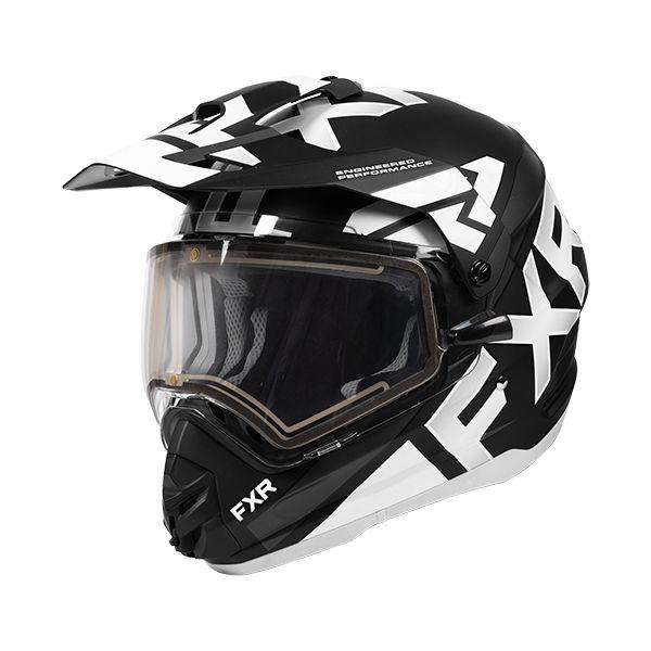 Casti Snowmobil FXR Casca Snow Torque X Evo Helmet Elec Shield Black/White 2020