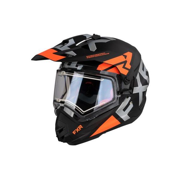 Casti Snowmobil FXR Casca Snow Torque X Evo Viziera Electrica Orange 2021