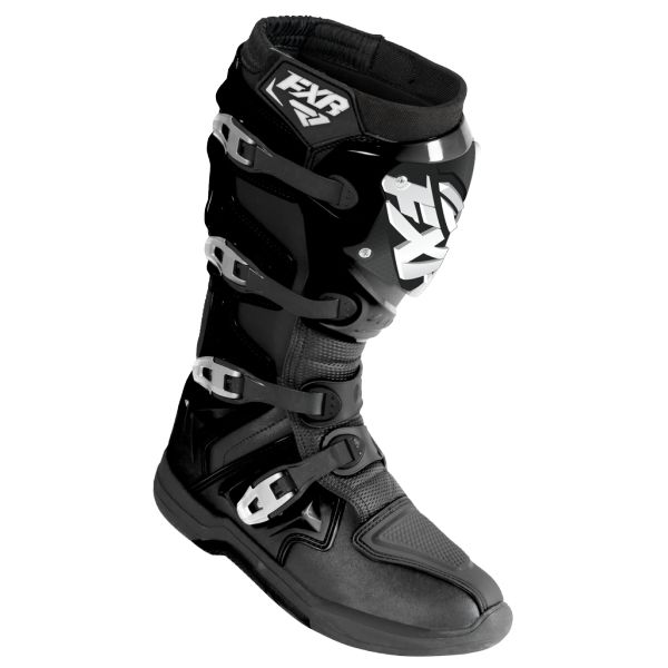 Cizme MX-Enduro FXR Cizme Factory Ride Black/White S18