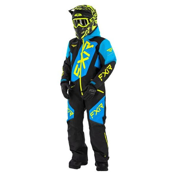 Combinezon Monosuit SNOW Copii FXR Combinezon Copii CX Monosuit Insulated Black/Blue/Hi Vis 2021