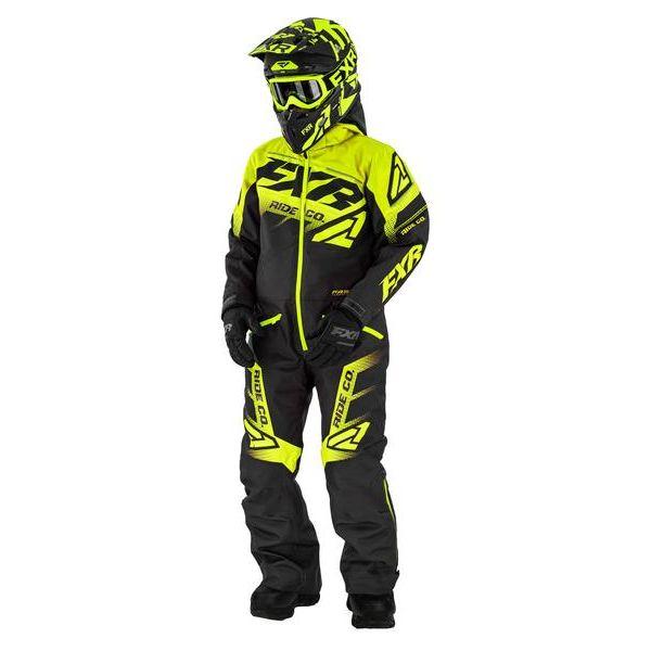 Combinezon Monosuit SNOW Copii FXR Combinezon Copii Insulated Boost Black/Hi Vis 2021