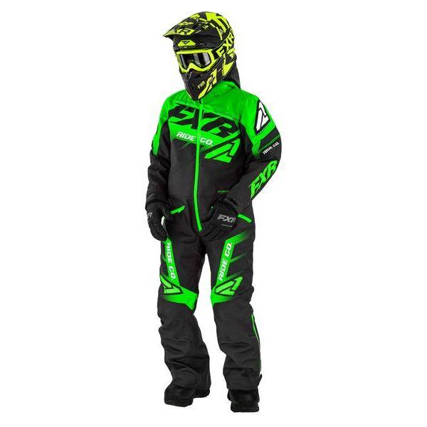 Combinezon Monosuit SNOW Copii FXR Combinezon Copii Insulated Boost Black/Lime 2021