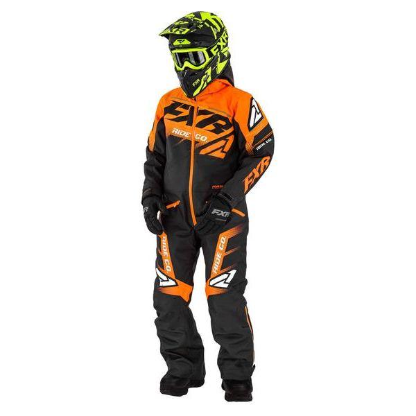 Combinezon Monosuit SNOW Copii FXR Combinezon Copii Insulated Boost Black/Orange 2021