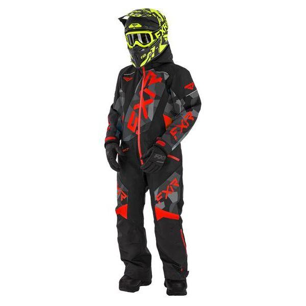 Combinezon Monosuit SNOW Copii FXR Combinezon Copii Insulated CX Black/Char Camo/Nuke 2021
